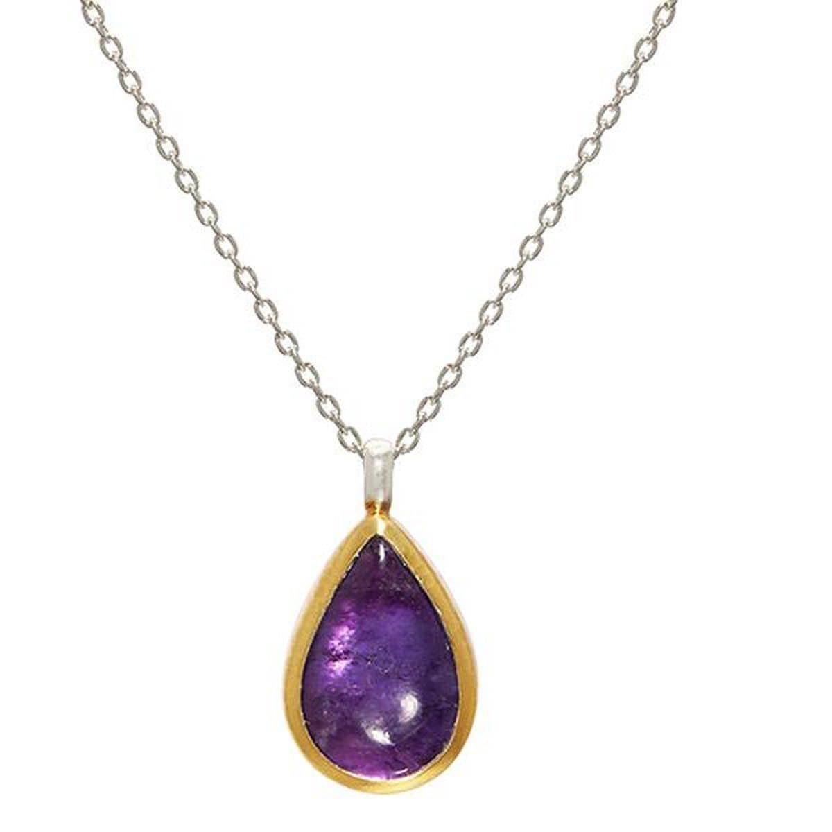 Limited Edition Amethyst Pendant Necklace - SCHN-LE-AM-DR-M-GF