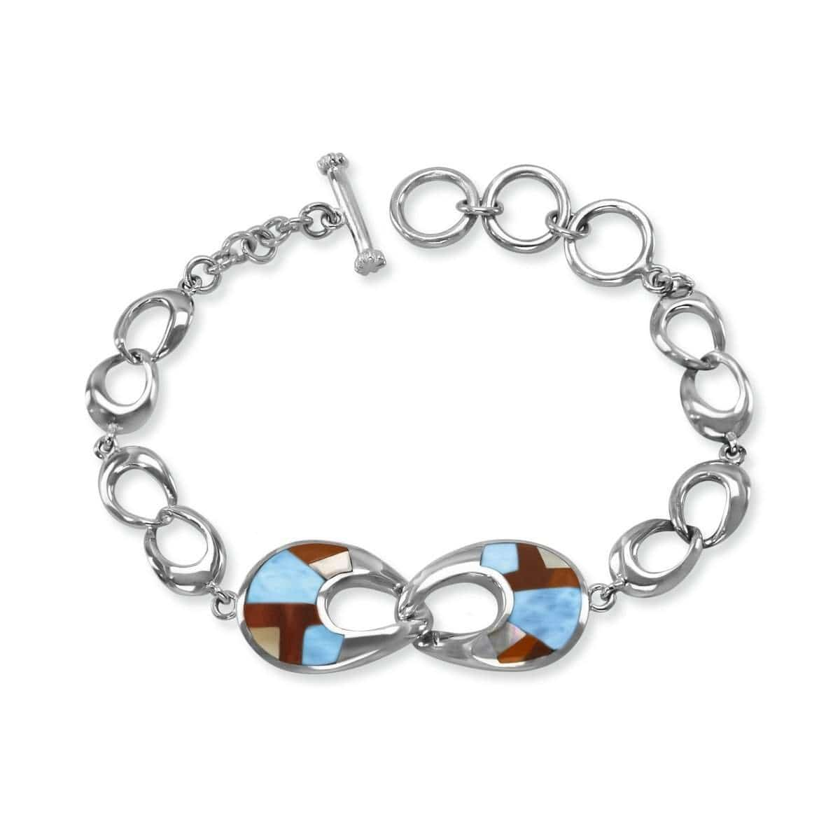 Luce Mother of Pearl & Black Onyx Bracelet- Bluce00-00-Marahlago Larimar-Renee Taylor Gallery