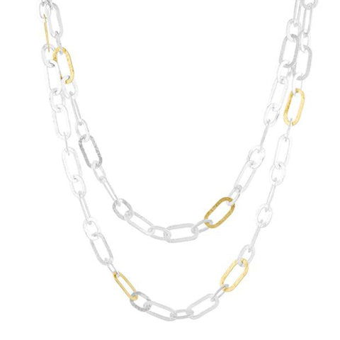 "Mango 36"" Link Necklace - SN-SMNL-12GL-AA-36-GURHAN-Renee Taylor Gallery"