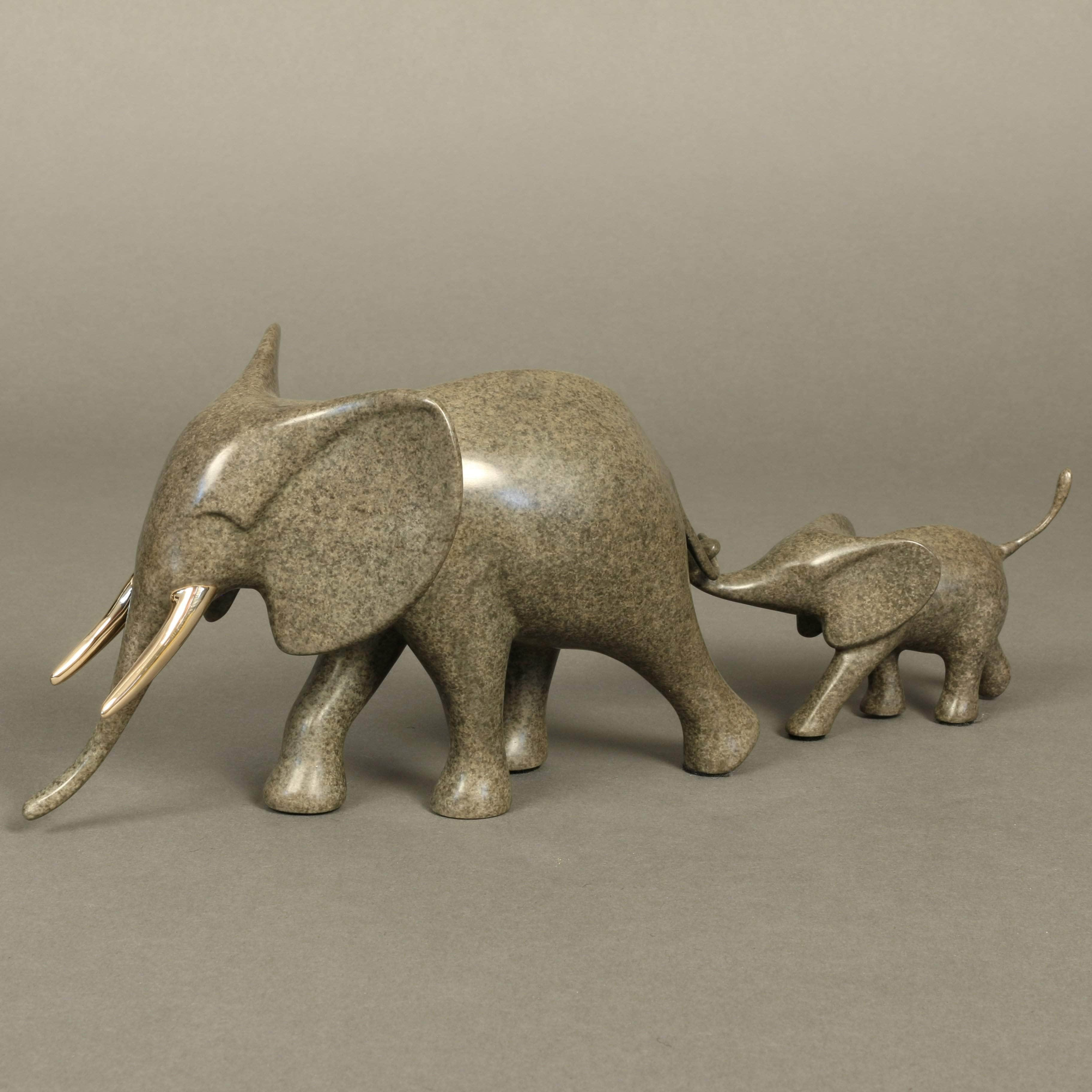 """Marching Elephant & Baby"""