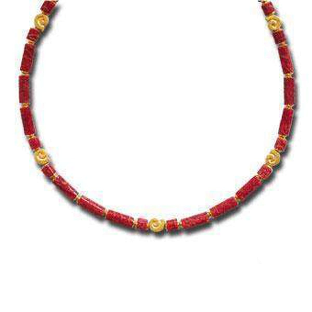 Marie Red Stone Necklace - 85973296-Bernd Wolf-Renee Taylor Gallery