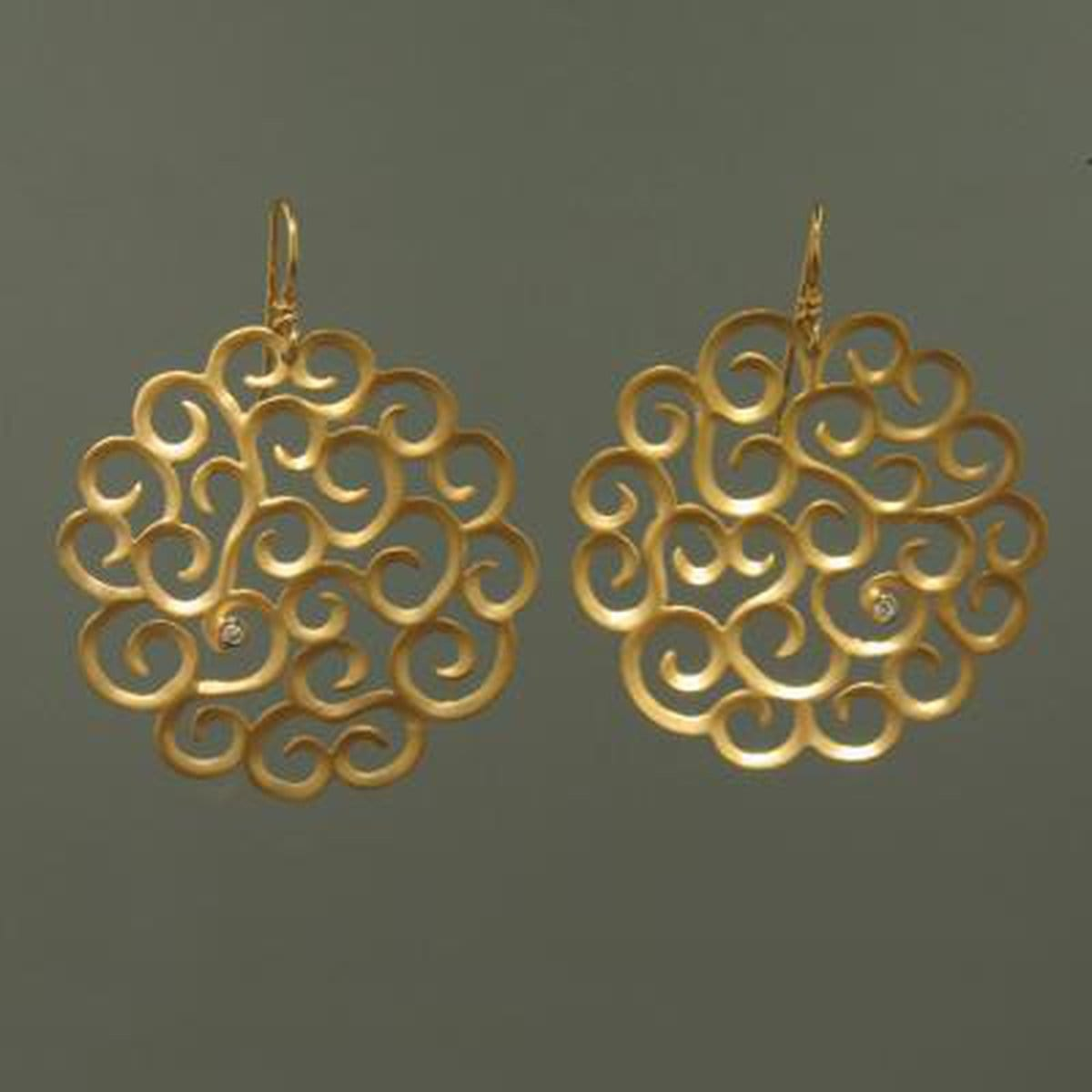 Marika Diamond & 14k Gold Earrings - M2985-Marika-Renee Taylor Gallery
