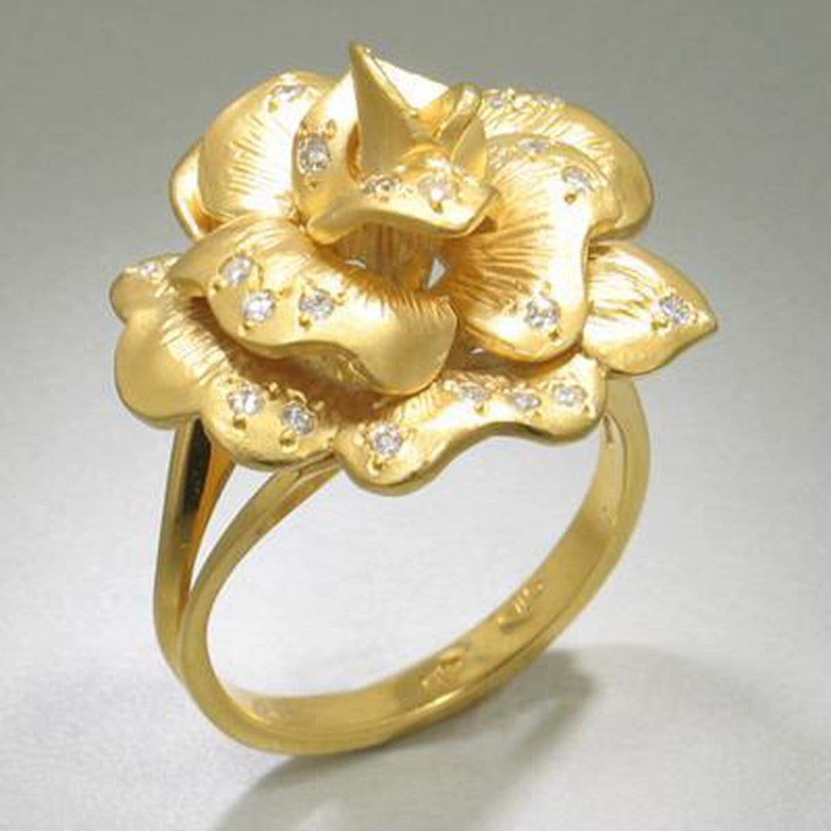 Marika Diamond & 14k Gold Ring - M157-Marika-Renee Taylor Gallery