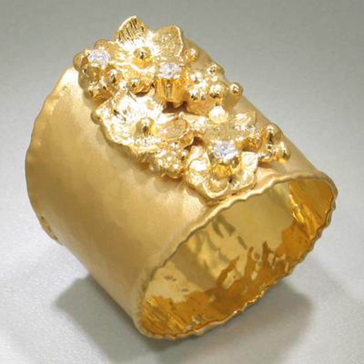 Marika Diamond & 14k Gold Ring - M1874-Marika-Renee Taylor Gallery