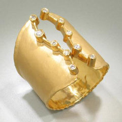 Marika Diamond & 14k Gold Ring - M1893-Marika-Renee Taylor Gallery
