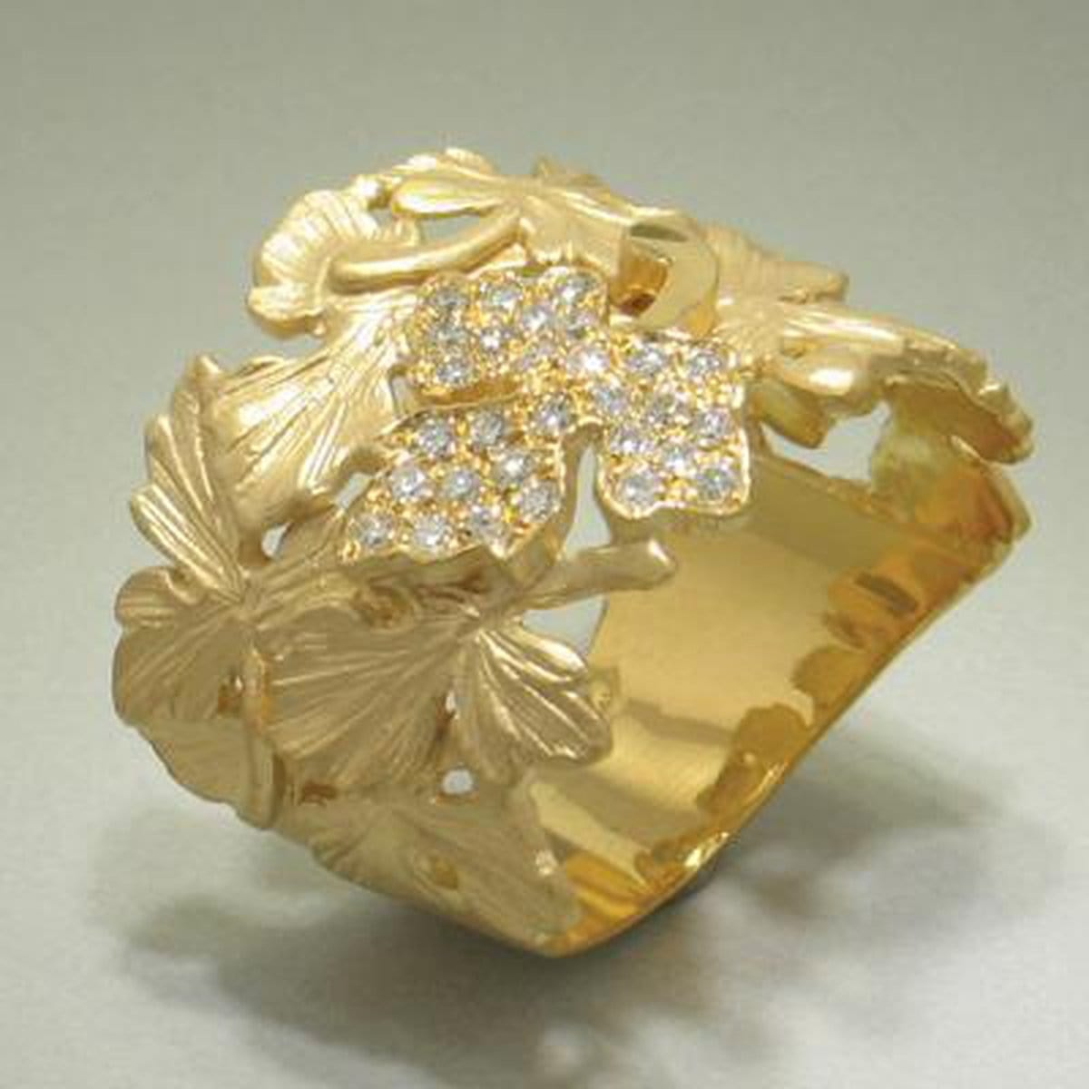 Marika Diamond & 14k Gold Ring - M4030-Marika-Renee Taylor Gallery