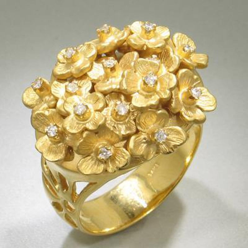 Marika Diamond & 14k Gold Ring - MA457-Marika-Renee Taylor Gallery