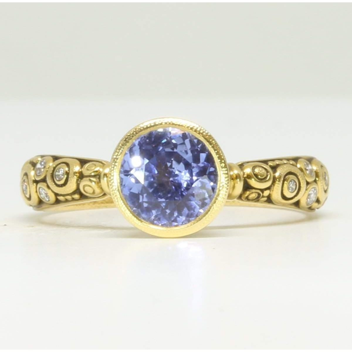 Martini Blue Sapphire Ring - R-128YY7.3-Alex Sepkus-Renee Taylor Gallery