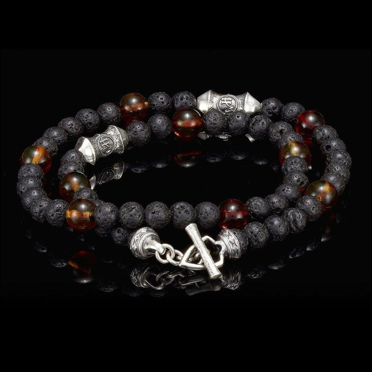 Men's Amber Tether Bracelet - BB20 AMB - William Henry