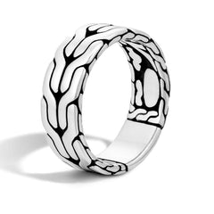 Classic Chain Men's Silver Band Ring - RB99842-John Hardy-Renee Taylor Gallery