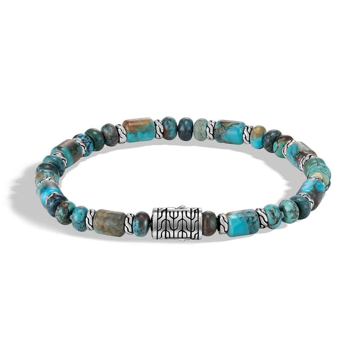 Classic Chain Men's Turquoise Mix Bracelet - BMS993251MTQ-John Hardy-Renee Taylor Gallery
