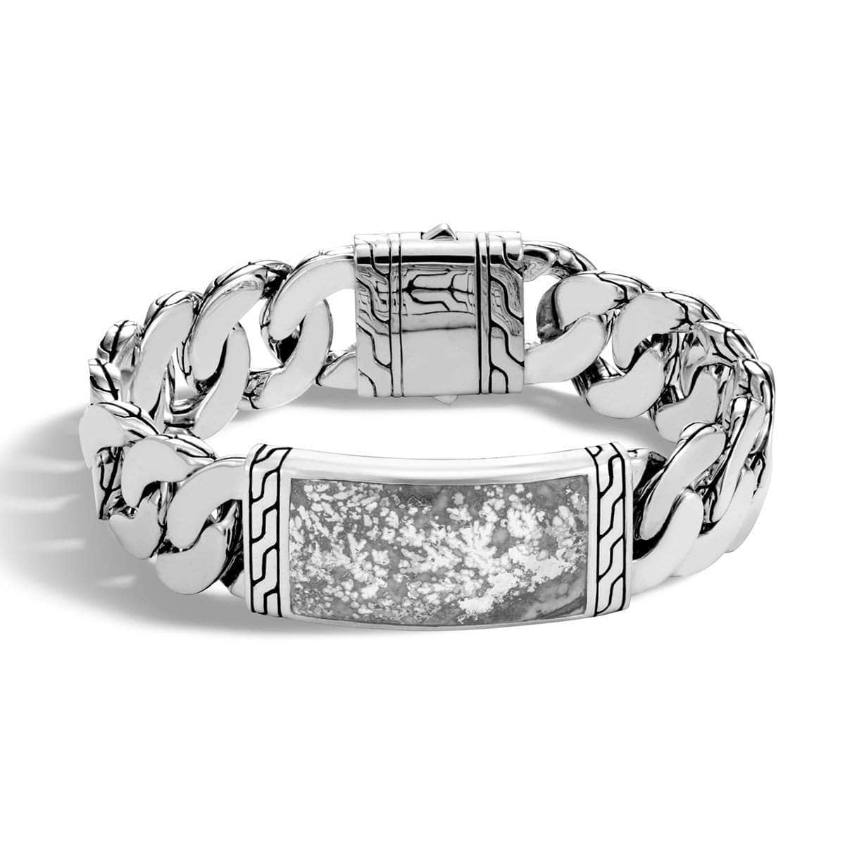 Classic Chain Men's Silver ID Calcite Bracelet - BMS9995581SCC-John Hardy-Renee Taylor Gallery