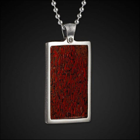 Men's Dino Apex Dog Tag Necklace - P29 DB RB-William Henry-Renee Taylor Gallery