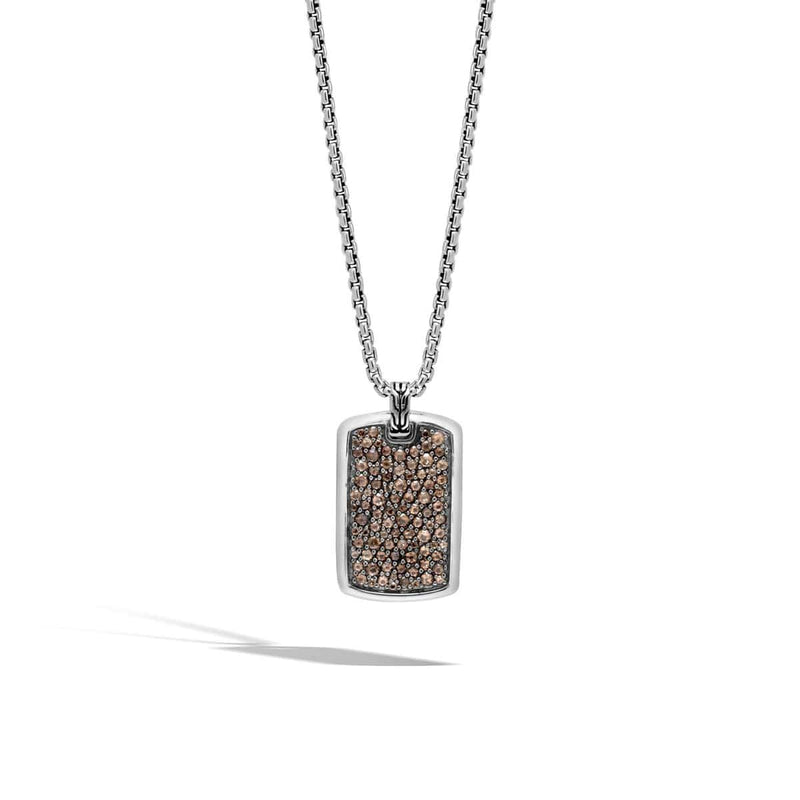 Classic Chain Men's Dog Tag Necklace - NBS9999844SQ-John Hardy-Renee Taylor Gallery