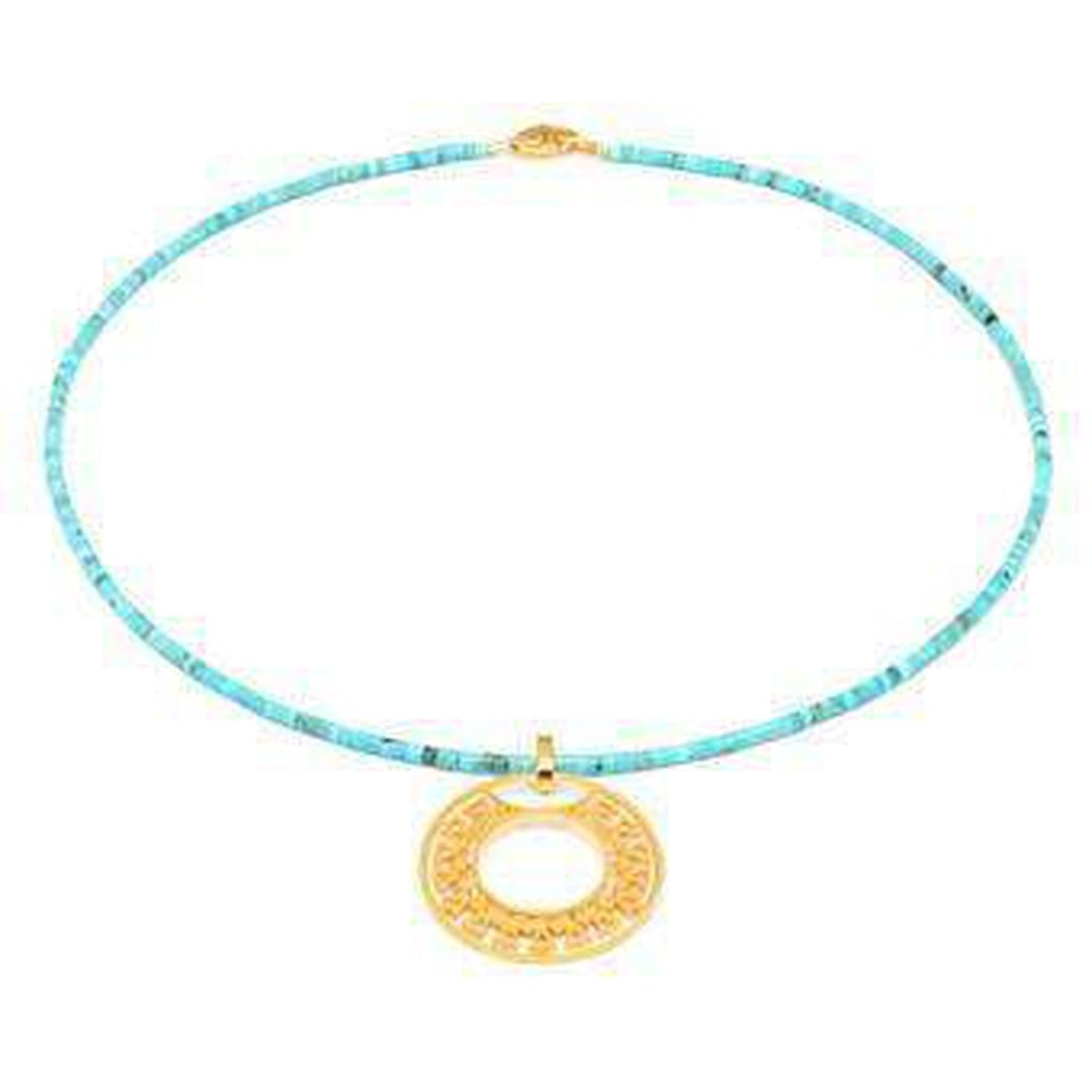 Milonga Turquoise Necklace - 85380256-Bernd Wolf-Renee Taylor Gallery