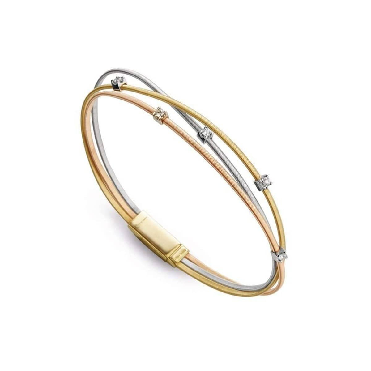 marco diamond bracelet single bicego white masai gold station image