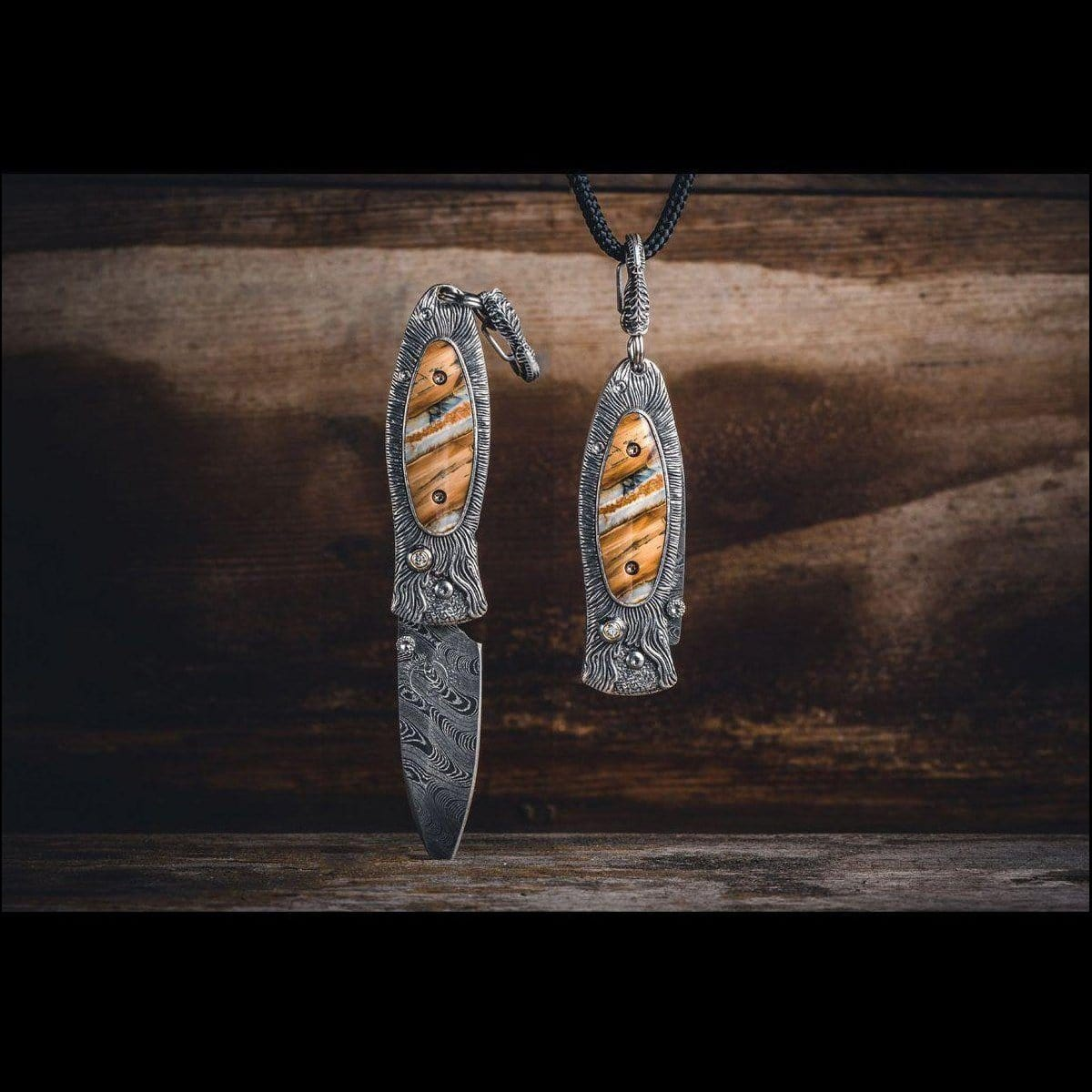 Morpheus Fire Pendant Knife - B02 FIRE-William Henry-Renee Taylor Gallery