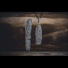 Morpheus Vine Pendant Knife - B02 Vine-William Henry-Renee Taylor Gallery