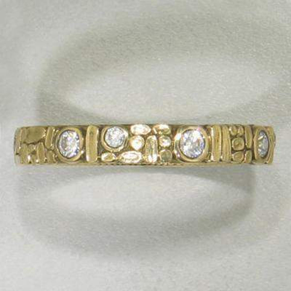 Mosaic Yellow Gold Band - R-155D-Alex Sepkus-Renee Taylor Gallery