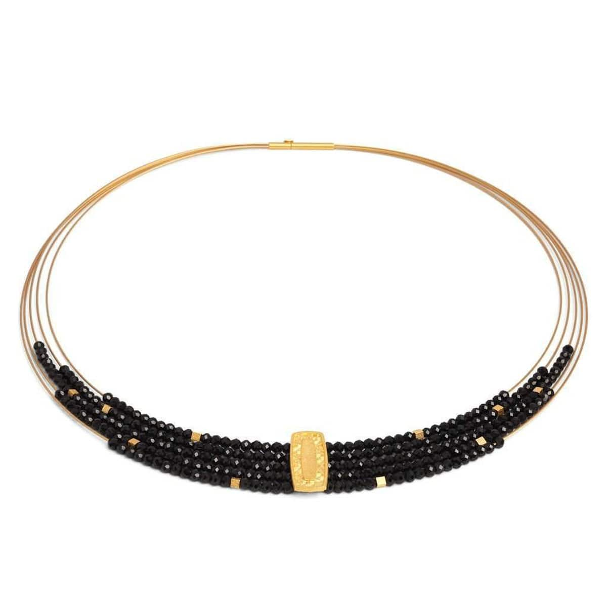 Movena Black Spinel Necklace - 84922496