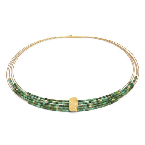 Movena Green Turquoise Necklace - 84922356-Bernd Wolf-Renee Taylor Gallery