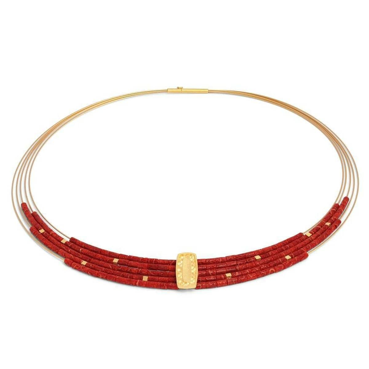 Movena Red Coral Necklace - 84922296-Bernd Wolf-Renee Taylor Gallery