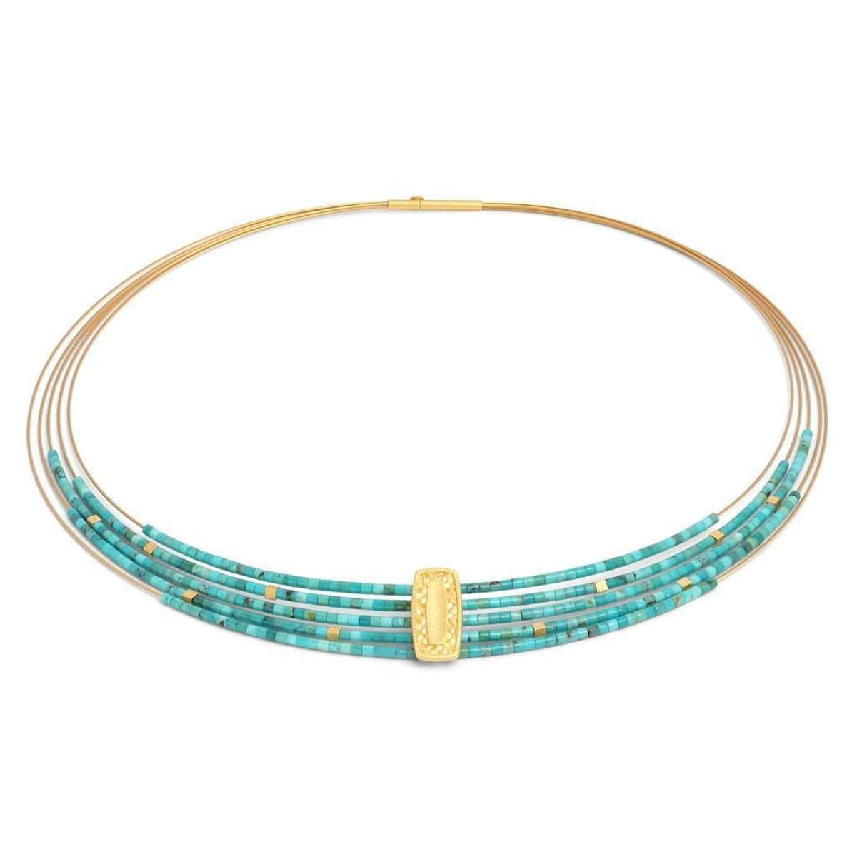 Movena Turquoise Necklace - 84922256-Bernd Wolf-Renee Taylor Gallery