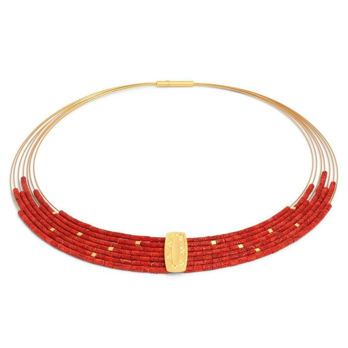 Moveno Red Coral Necklace - 84928296-Bernd Wolf-Renee Taylor Gallery