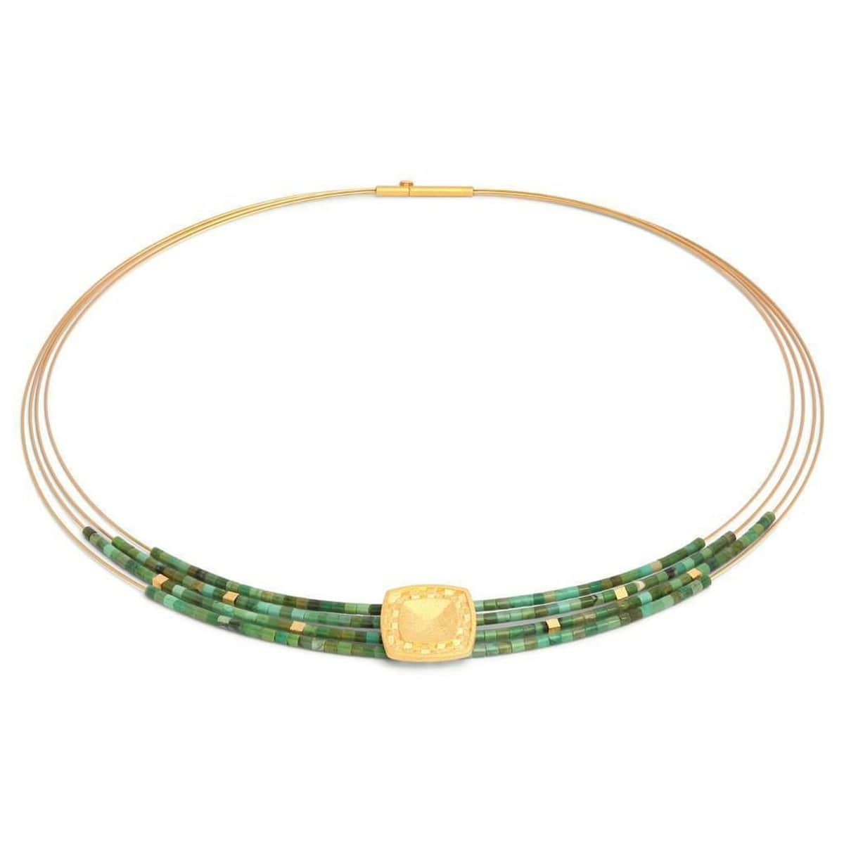 Movinna Green Turquoise Necklace - 84926356