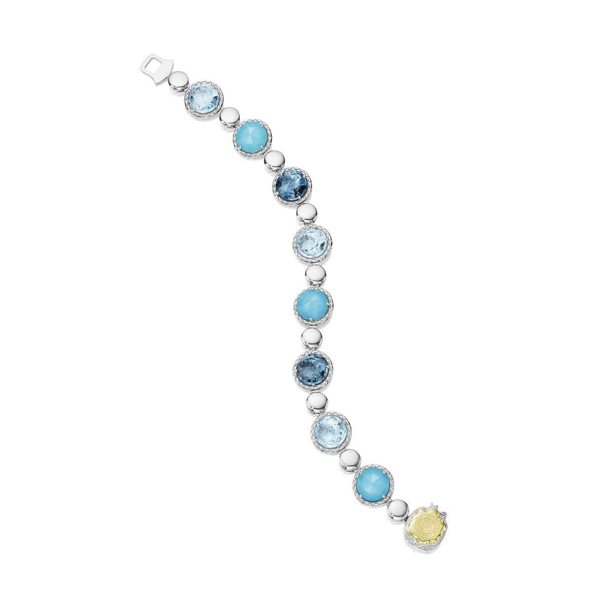 Multi Color Clear Quartz Turquoise Bracelet - SB155050233-Tacori-Renee Taylor Gallery