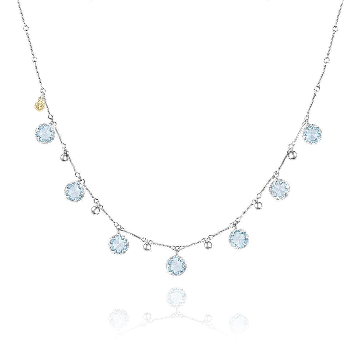 Multi-Gem Drop Necklace with Sky Blue Topaz - SN20502-Tacori-Renee Taylor Gallery