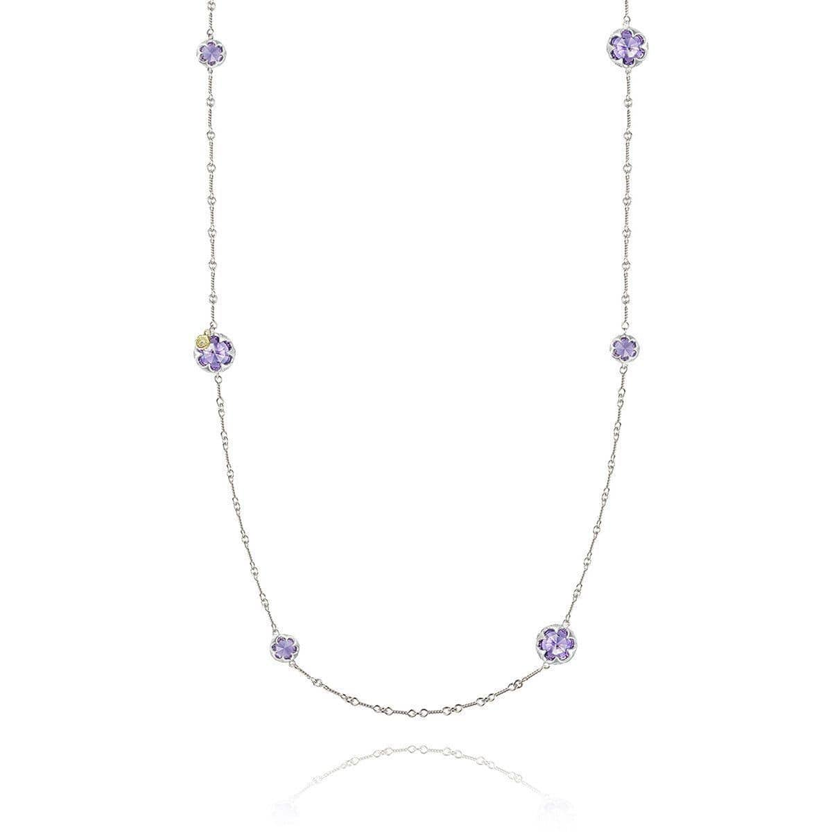 Multi-Gem Station Necklace with Amethyst - SN20301-Tacori-Renee Taylor Gallery