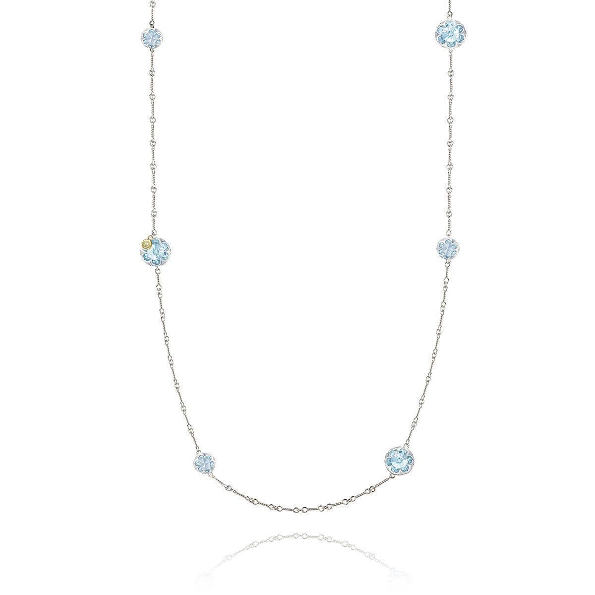 Multi-Gem Station Necklace with Sky Blue Topaz - SN20302-Tacori-Renee Taylor Gallery