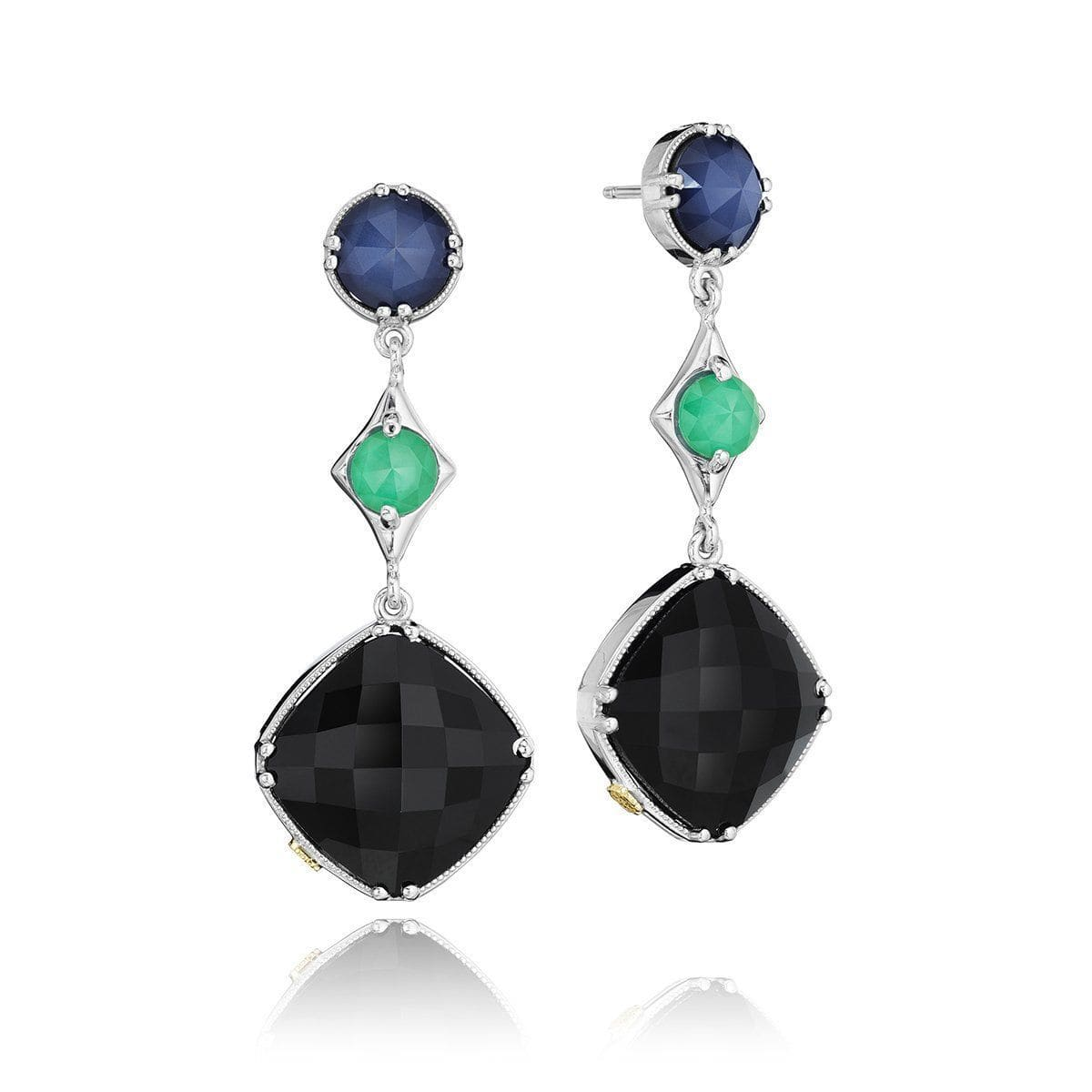 Multicolor Blue Quartz Onyx Earrings - SE169352719