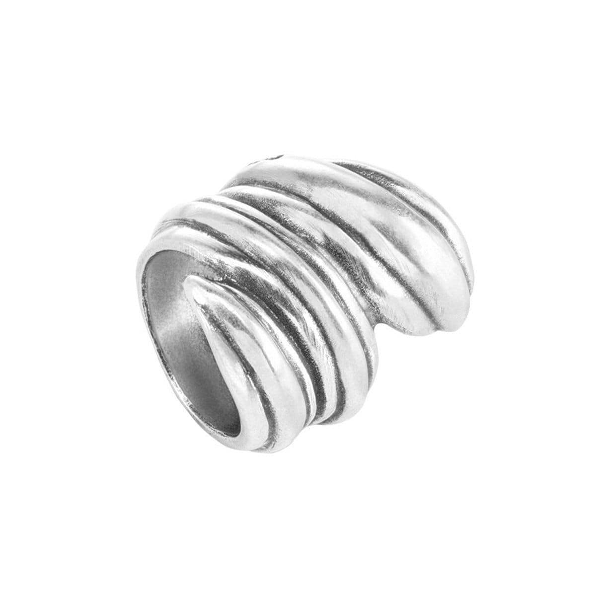 Mumbasa Layered Silver Ring - ANI0507MTL000