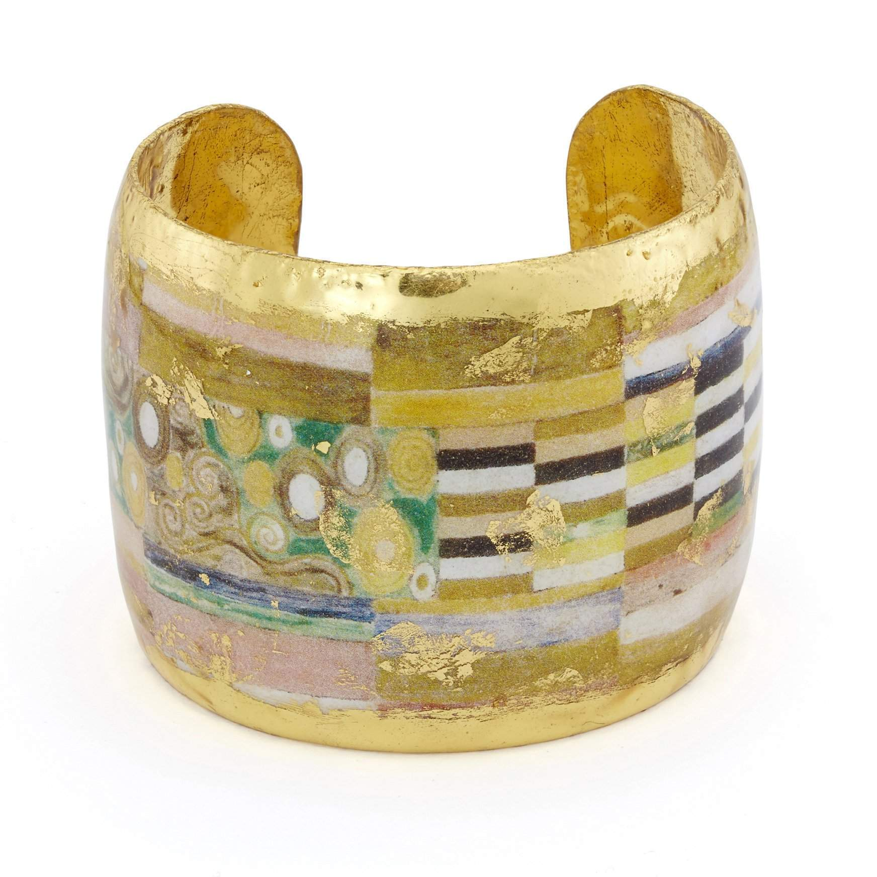 "Munich 2"" Gold Cuff - MU145-Evocateur-Renee Taylor Gallery"