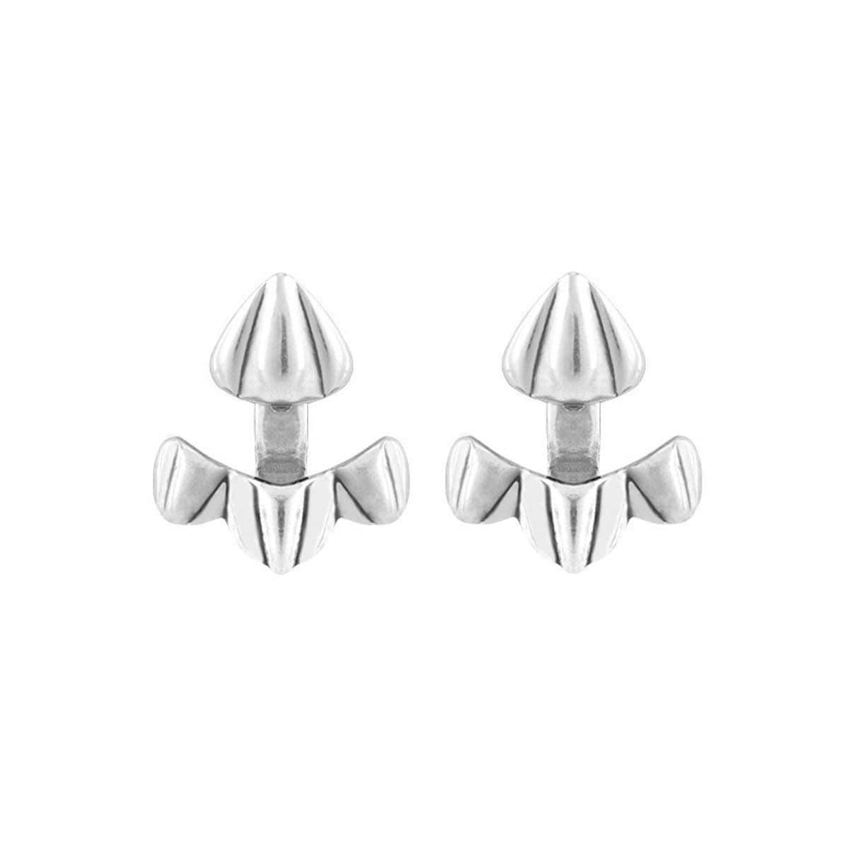 Munwezi Layered Silver Earrings - PEN0531MTL0000U-UNO de 50-Renee Taylor Gallery
