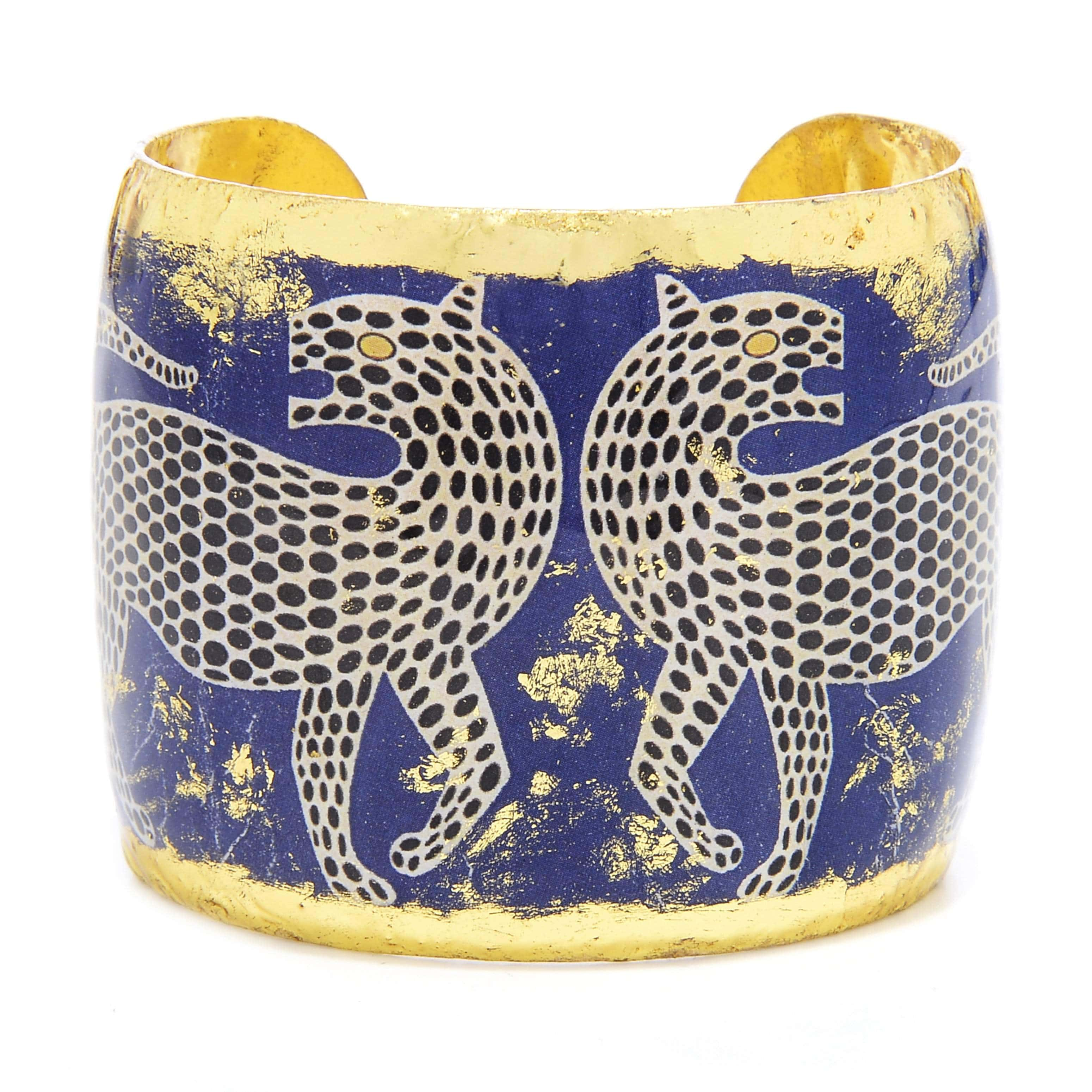 "Mythic Jaguar 2"" Gold Cuff - HS135-Evocateur-Renee Taylor Gallery"