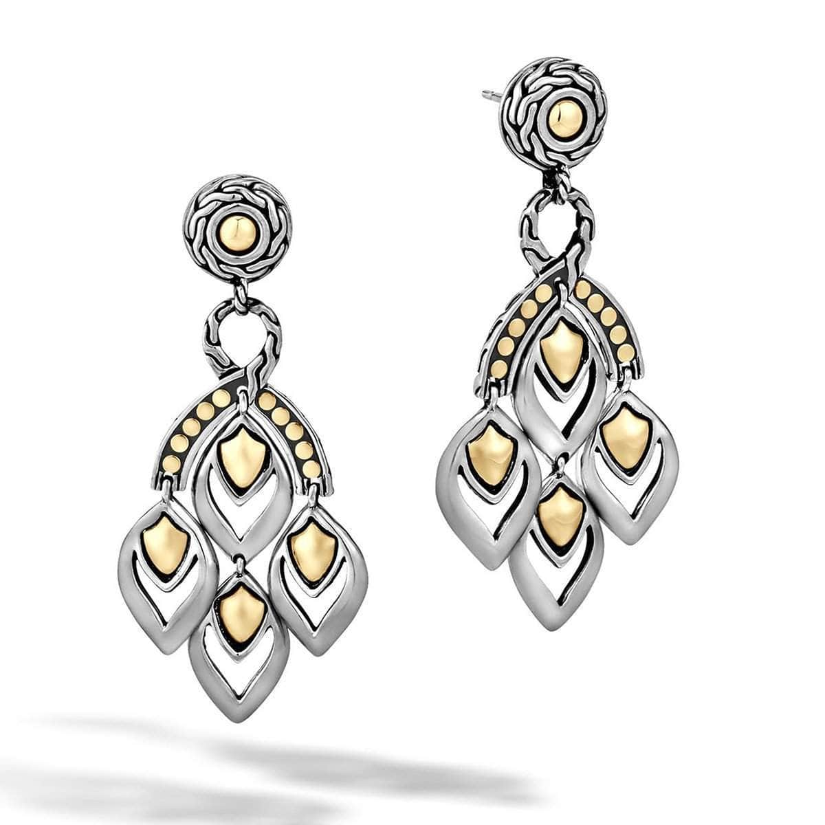 Legends Naga Gold Silver Chandelier Earrings - EZ65263-John Hardy-Renee Taylor Gallery