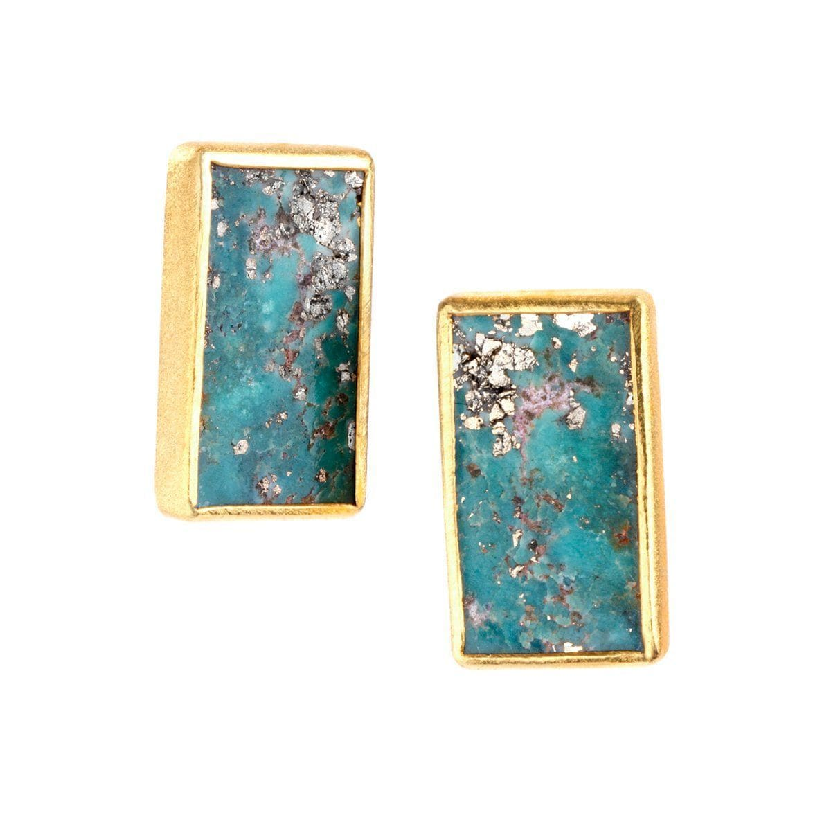 Nirvana 22k Gold Plated Earrings - G7012E-Nina Nguyen-Renee Taylor Gallery