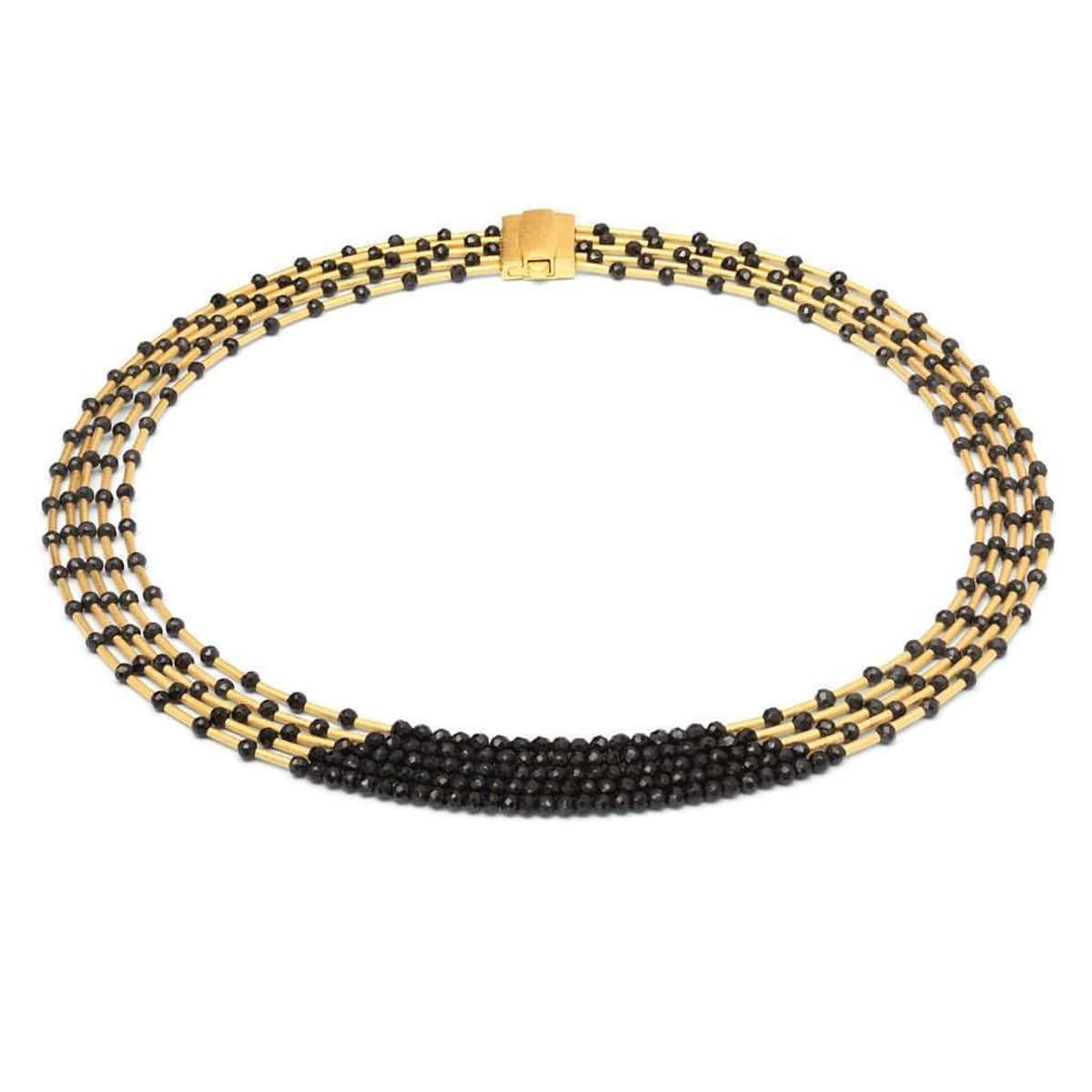 Nofrete Black Spinel Necklace - 84017496-Bernd Wolf-Renee Taylor Gallery