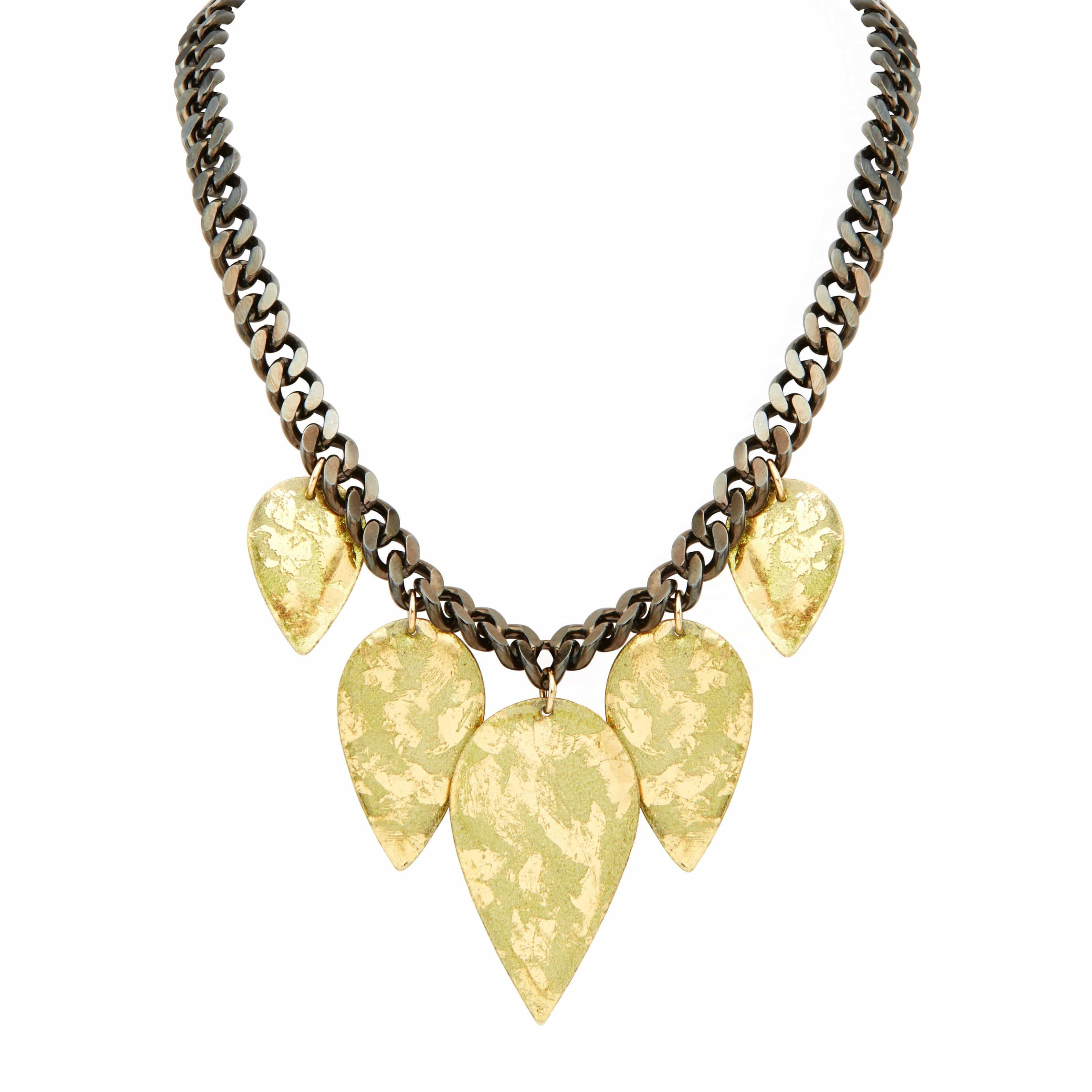 "Olivia 17"" Necklace Gold - EL207-Evocateur-Renee Taylor Gallery"