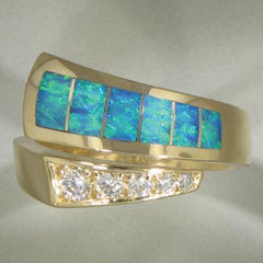Opal & Diamond Ring - 16155-Christopher Corbett-Renee Taylor Gallery