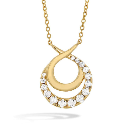 Optima Double Circle Diamond Necklace - HFNOPC00758Y-Hearts on Fire-Renee Taylor Gallery