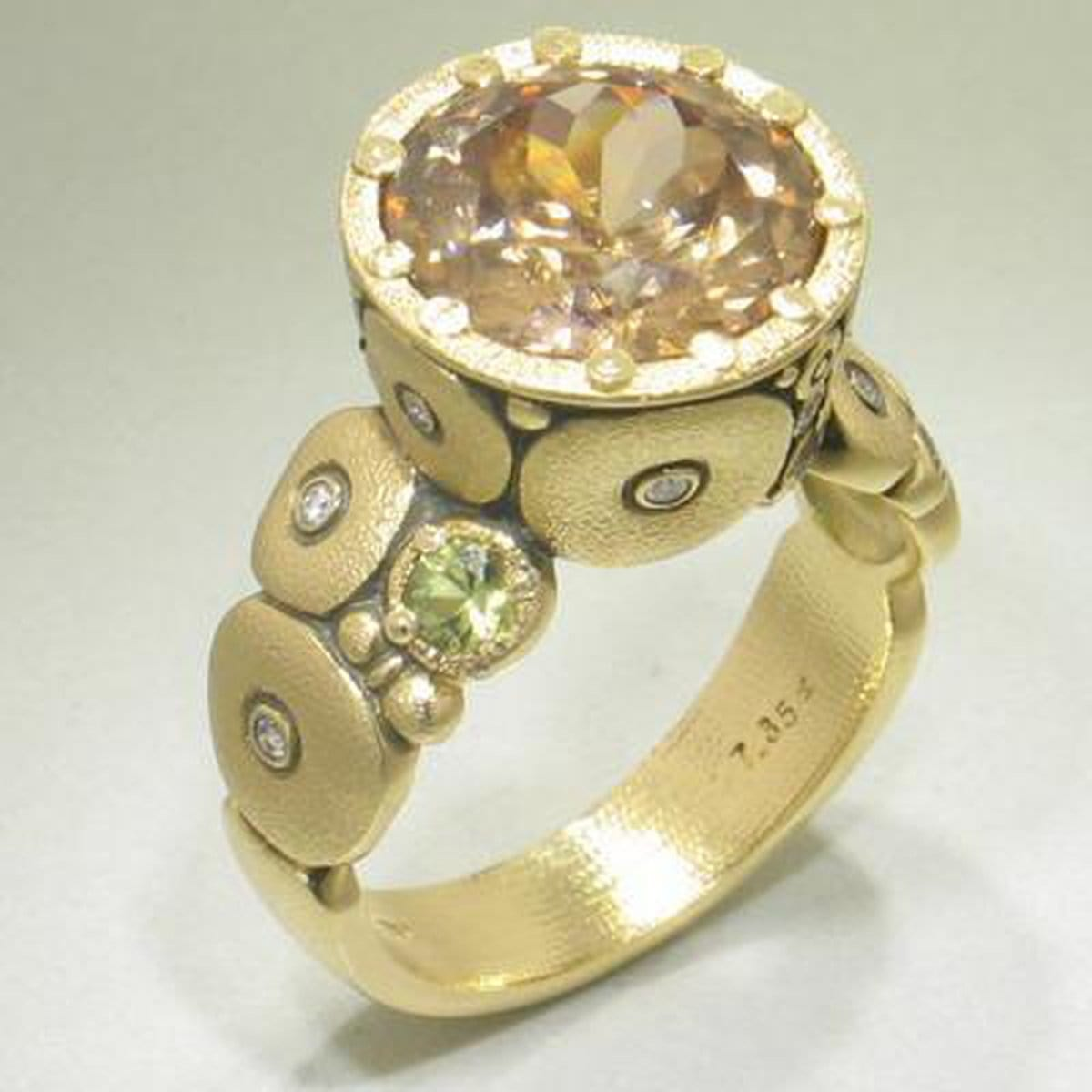 Orchard Yellow Zircon Ring - R-115S-Alex Sepkus-Renee Taylor Gallery