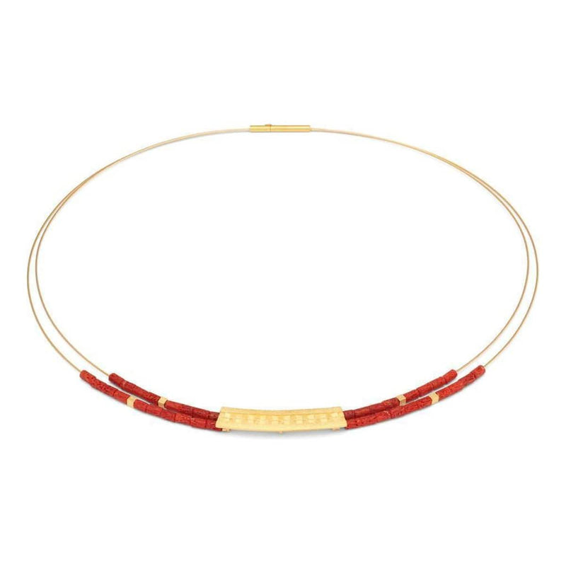 Orelia Red Coral Necklace - 85014296-Bernd Wolf-Renee Taylor Gallery