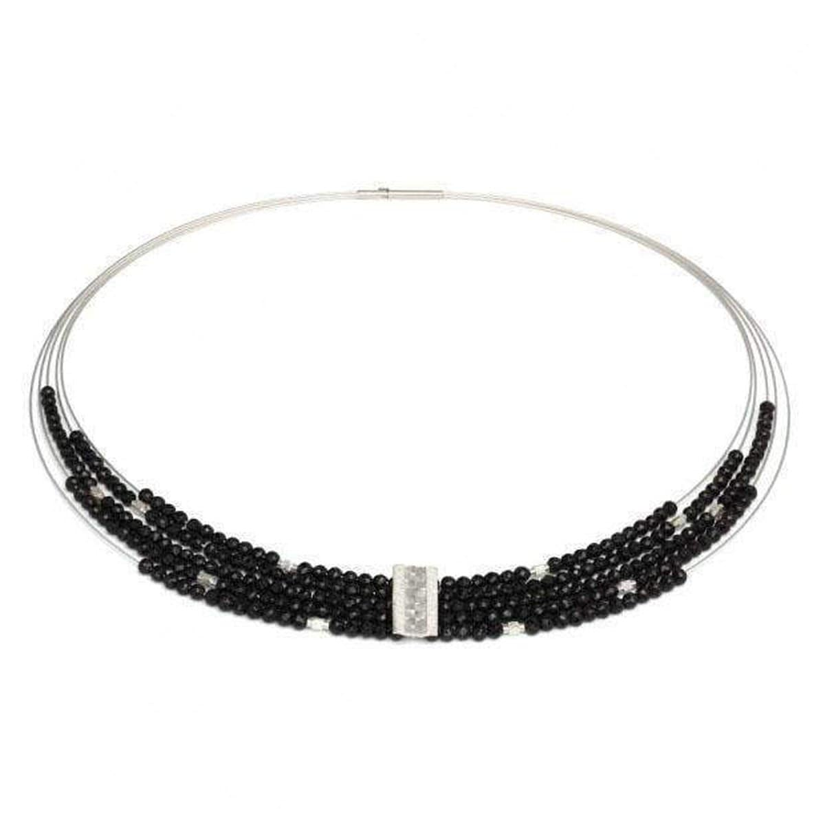 Orfea Black Spinel Necklace - 85085494-Bernd Wolf-Renee Taylor Gallery