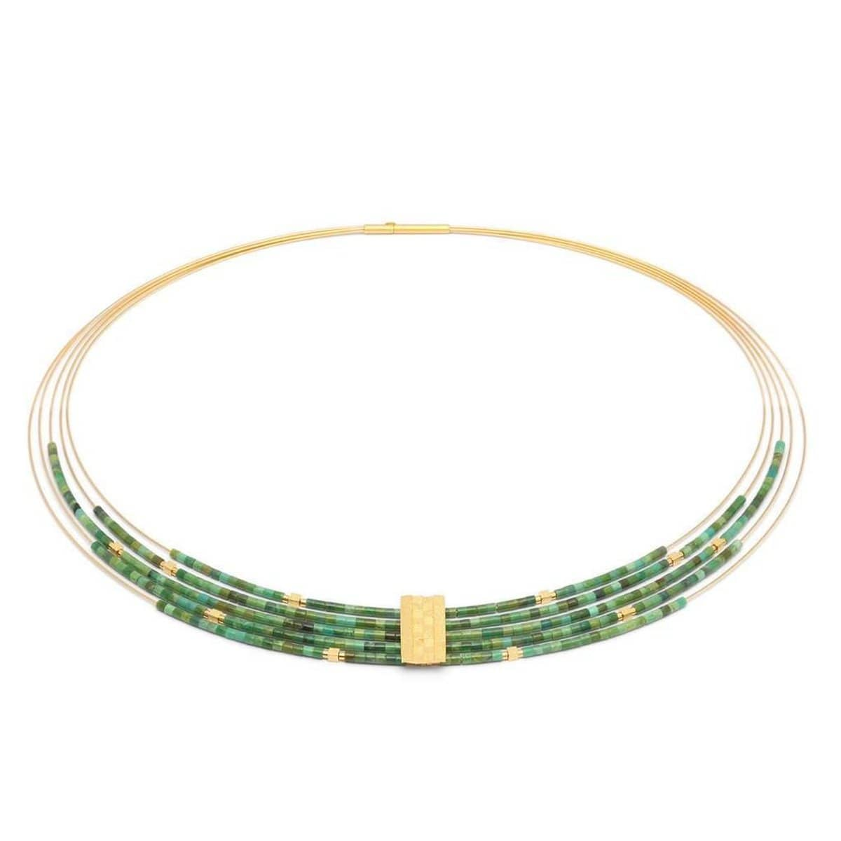 Orfea Green Turquoise Necklace - 85185356-Bernd Wolf-Renee Taylor Gallery