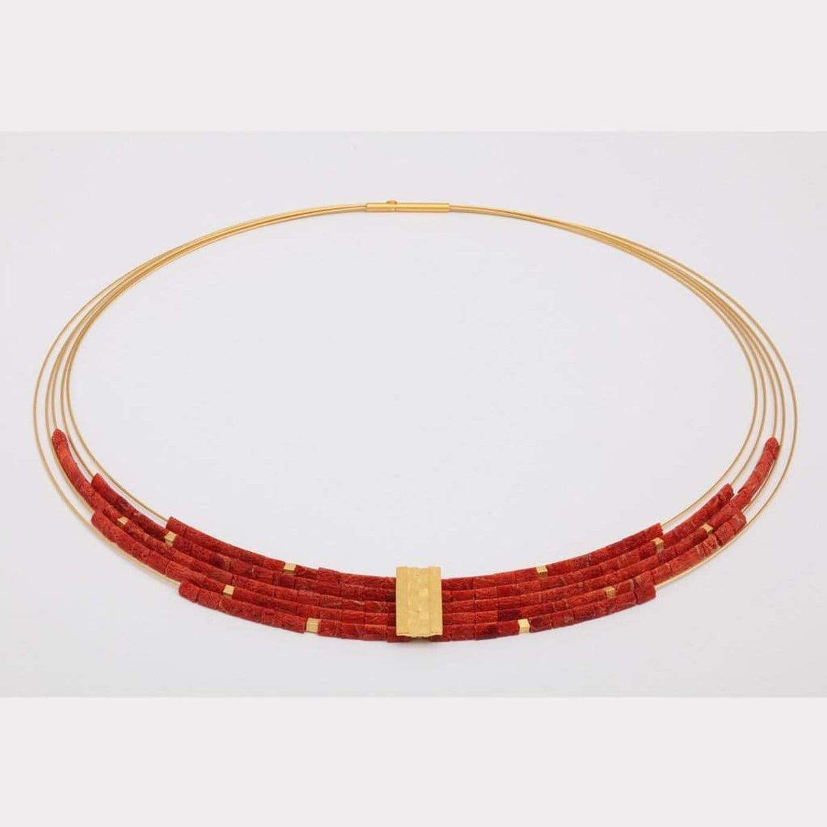 Orfea Red Coral Necklace - 85285296-Bernd Wolf-Renee Taylor Gallery