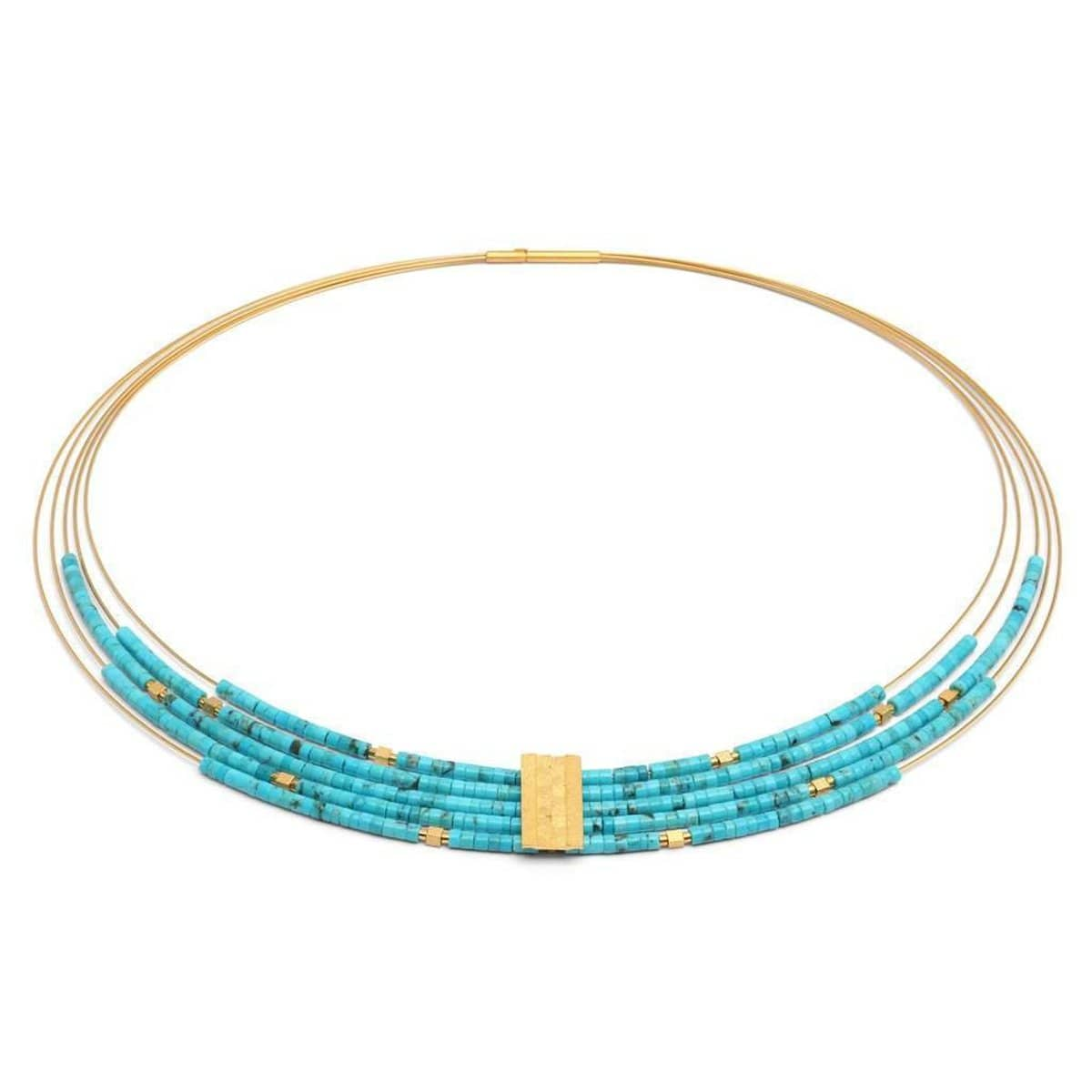 Orfea Turquoise Necklace - 85085256-Bernd Wolf-Renee Taylor Gallery